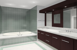 Commercial Bathroom Vanity Installation