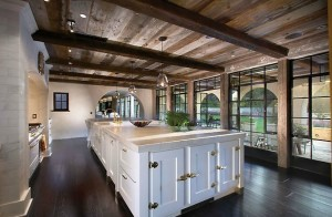 Custom Kitchen with Beams on Ceilings South Florida
