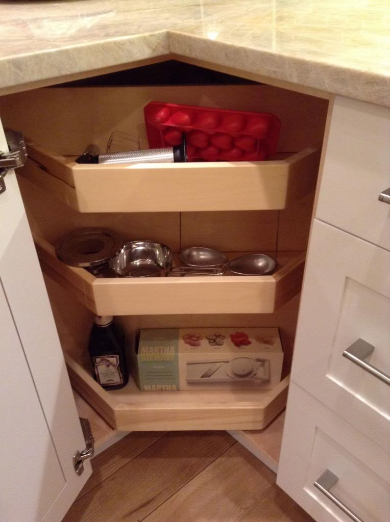 magic corner cabinet insert - Transitional - Kitchen - Dallas - by ...