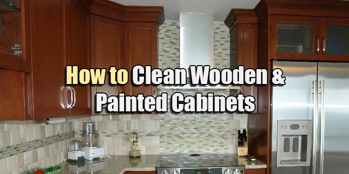 how to clean wooden painted cabinets kitchen bath. Black Bedroom Furniture Sets. Home Design Ideas
